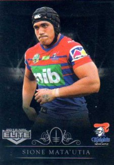 2018 NRL Elite Special Silver Parallel SS76 Sione Mata'utia Knights