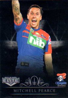 2018 NRL Elite Special Silver Parallel SS77 Mitchell Pearce Knights