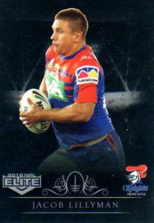 2018 NRL Elite Special Silver Parallel SS75 Jacob Lillyman Knights