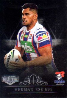 2018 NRL Elite Special Silver Parallel SS72 Herman Ese'ese Knights