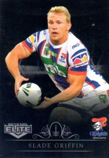 2018 NRL Elite Special Silver Parallel SS73 Slade Griffin Knights
