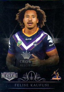 2018 NRL Elite Special Silver Parallel SS67 Felise Kaufusi Storm