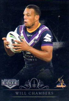 2018 NRL Elite Special Silver Parallel SS64 Will Chambers Storm