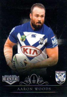 2018 NRL Elite Special Silver Parallel SS30 Aaron Woods Bulldogs