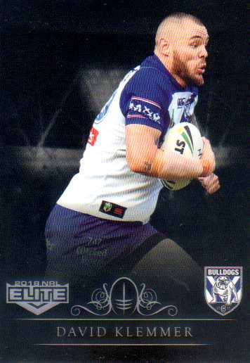 2018 NRL Elite Special Silver Parallel SS26 David Klemmer Bulldogs