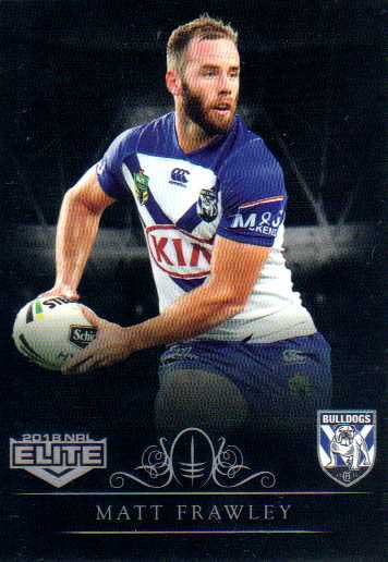 2018 NRL Elite Special Silver Parallel SS24 Matt Frawley Bulldogs