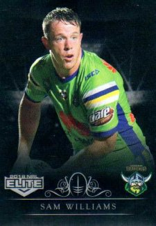 2018 NRL Elite Special Silver Parallel SS20 Sam Williams Raiders