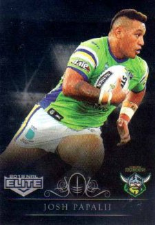 2018 NRL Elite Special Silver Parallel SS16 Josh Papalii Raiders