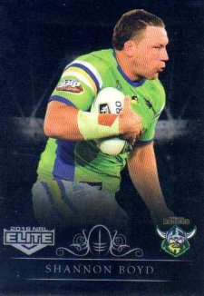 2018 NRL Elite Special Silver Parallel SS13 Shannon Boyd Raiders