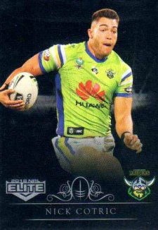 2018 NRL Elite Special Silver Parallel SS14 Nick Cotric Raiders