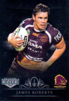 2018 NRL Elite Special Silver Parallel SS9 James Roberts Broncos