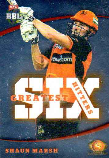 2018/19 Cricket BBL Greatest Six Hitters GSH7 Shaun Marsh Scorchers