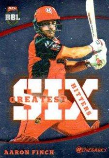 2018/19 Cricket BBL Greatest Six Hitters GSH2 Aaron Finch Renegades