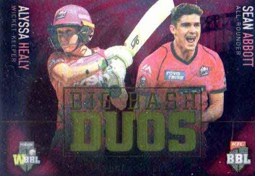 2018/19 Cricket BBL WBBL Big Bash Duos BBD7 Alyssa Healy Sean Abbott Sixers