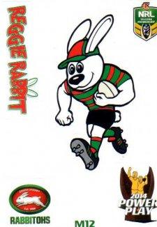2014 NRL Power Play Mascot Sticker M12 South Sydney Rabbitohs
