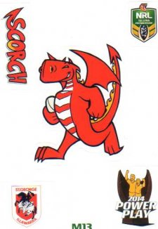 2014 NRL Power Play Mascot Sticker M13 St George Dragons