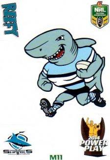 2014 NRL Power Play Mascot Sticker M11 Cronulla Sharks
