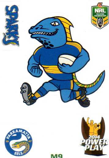 2014 Nrl Power Play Mascot Sticker M9 Parramatta Eels Diggaz Trading Cards