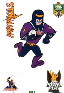 2014 NRL Power Play Mascot Sticker M7 Melbourne Storm