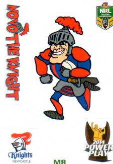 2014 NRL Power Play Mascot Sticker M8 Newcastle Knights