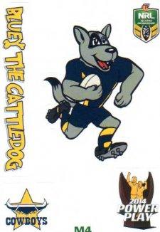 2014 NRL Power Play Mascot Sticker M4 North Queensland Cowboys
