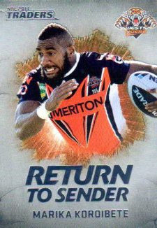 2014 NRL Traders Return to Sender RTS31 Marika Koroibete Tigers