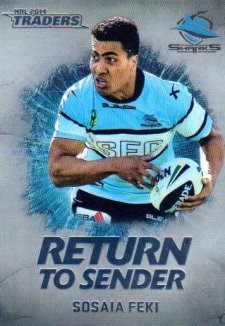 2014 NRL Traders Return to Sender RTS21 Sosaia Feki Sharks