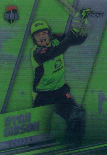 2018/19 Cricket Parallel Card 187 Ryan Gibson Thunder