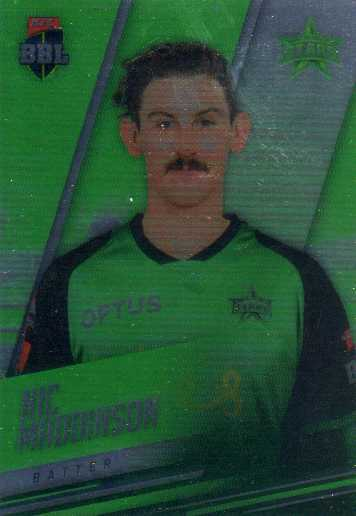 2018/19 Cricket Parallel Card 134 Nic Maddinson Stars