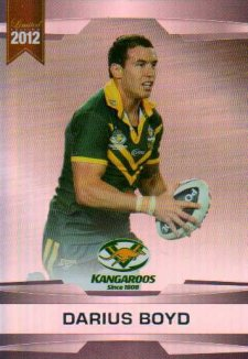 2012 NRL Limited Edition Parallel P1 Darius Boyd Knights Australia