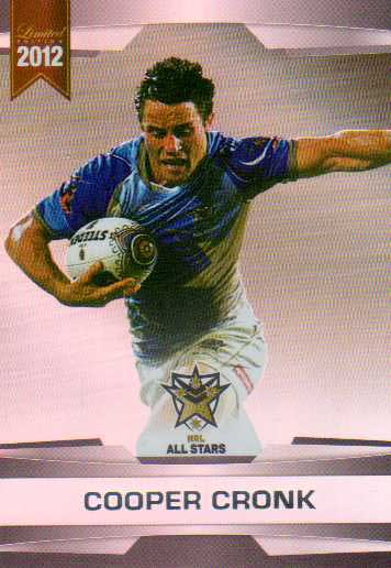 2012 NRL Limited Edition Parallel P62 Cooper Cronk Storm All Star