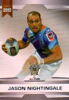 2012 NRL Limited Edition Parallel P69 Jason Nightingale Dragons All Star