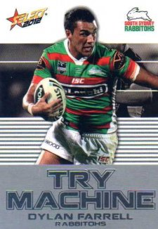 2012 NRL Champions Try Machine TM42 Dylan Farrell Rabbitohs