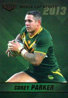 2014 NRL Elite World Cup Heroes WCH18 Corey Parker Broncos Australia
