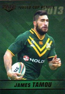 2014 NRL Elite World Cup Heroes WCH21 James Tamou Cowboys Australia