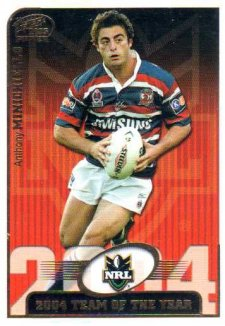 2005 NRL Power Team of the Year TY1 Anthonh Minichiello Roosters