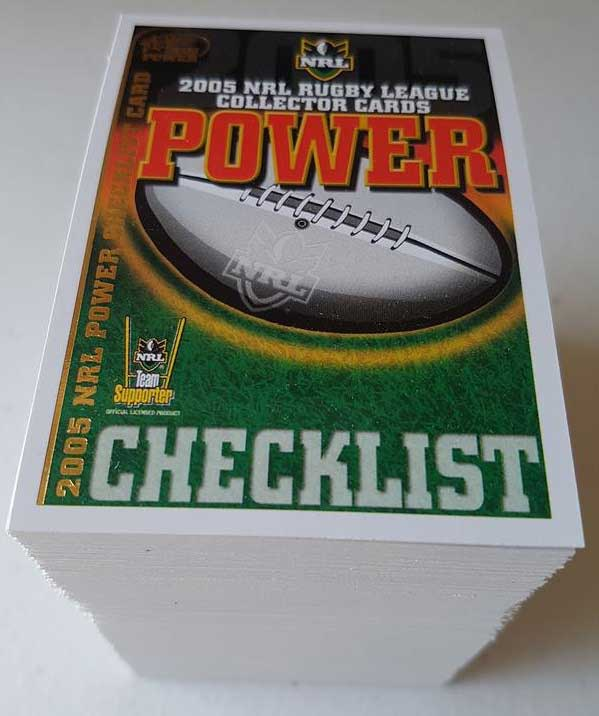 2005 NRL Power Complete 181-Card Base Common Set