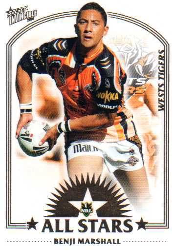2006 NRL Invincible All Stars AS15 Benji Marshall Tigers