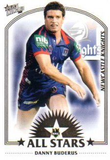 2006 NRL Invincible All Stars AS16 Danny Buderas Knights