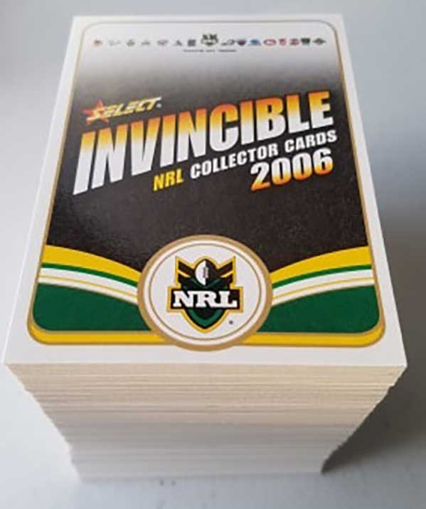2006 NRL Invincible Complete 182-Card Base Common Set