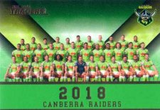 2018 NRL Traders Redeemed Predictor Team Photo PT2 Raiders
