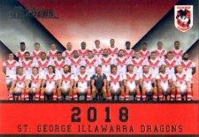 2018 NRL Traders Redeemed Predictor Team Photo PT13 Dragons
