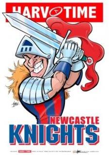 NRL Harv Time Mascot A3 Print Poster Newcastle Knights