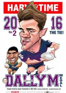 NRL Harv Time 2016 Dally M A3 Poster Cooper Cronk Storm
