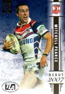 2018 NRL Milestones Debut Card D8 Mitchell Pearce Roosters