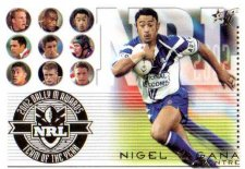 2003 XL TOTY TY3 Nigel Vagana Bulldogs