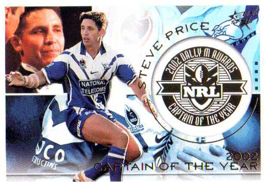 2003 XL Dally M Medal Winner DM4 Steve Price Bulldogs
