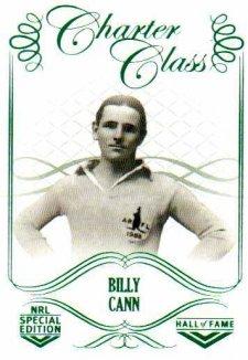 2018 NRL Glory Hall of Fame Charter Class CC1 Billy Cann