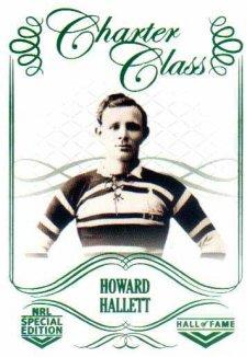 2018 NRL Glory Hall of Fame Charter Class CC8 Howard Hallett