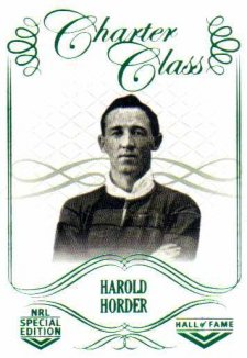 2018 NRL Glory Hall of Fame Charter Class CC15 Harold Horder